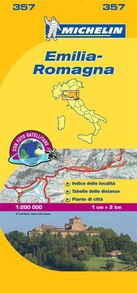 bokomslag Emilia Romagna Michelin 357 delkarta Italien : 1:200000