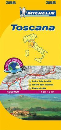 Toscana Michelin 358 delkarta Italien : 1:200000