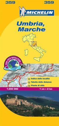 bokomslag Marche Umbria Michelin 359 delkarta Italien : 1:200000