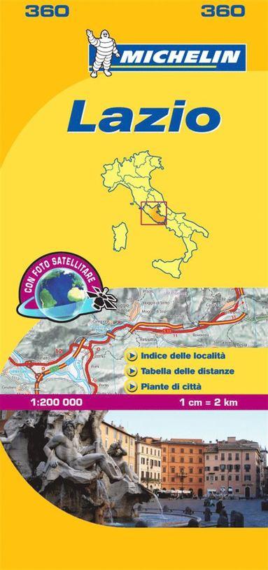 bokomslag Lazio - Michelin Local Map 360