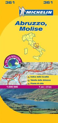 bokomslag Abruzzo &; Molise - Michelin Local Map 361