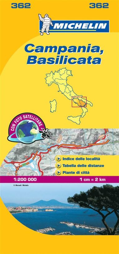 bokomslag Campania - Michelin Local Map 362