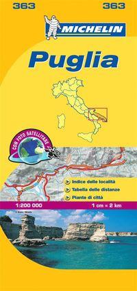 bokomslag Puglia Basilicata Michelin 363 delkarta Italien : 1:200000