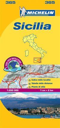 bokomslag Sicily Michelin 365 delkarta Italien : 1:200000