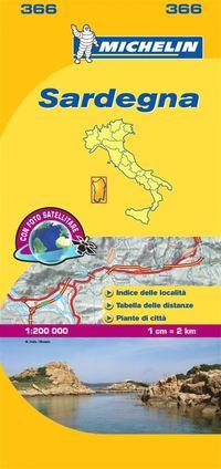 bokomslag Sardinia Michelin 366 delkarta Italien : 1:200000