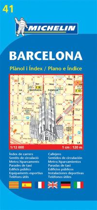 Barcelona Michelin 41 stadskarta : 1:12000