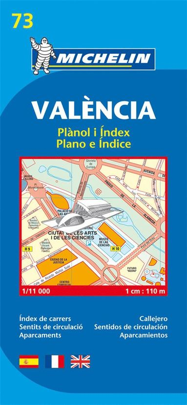 bokomslag Valencia - Michelin City Plan 73