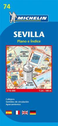 Sevilla Michelin 74 stadskarta : 1:10000