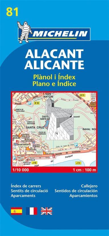 bokomslag Alicante Michelin 81 stadskarta : 1:10000