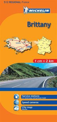 Bretagne Michelin 512 delkarta Frankrike : 1:200000