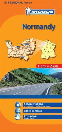 Normandie Michelin 513 delkarta Frankrike : 1:200000