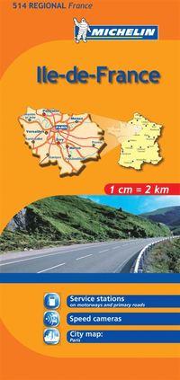 Ile de France Michelin 514 delkarta Frankrike : 1:200000