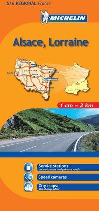 Alsace Lorraine Michelin 516 delkarta Frankrike : 1:200000