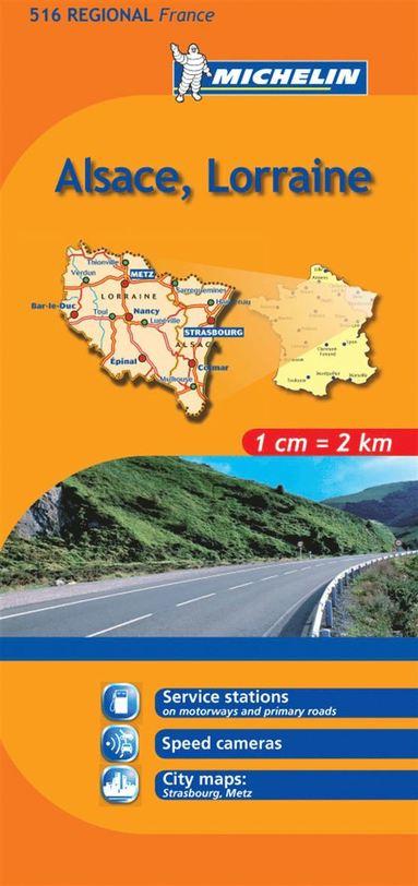 bokomslag Alsace Lorraine Michelin 516 delkarta Frankrike : 1:200000