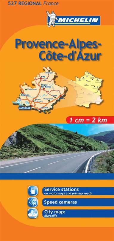 bokomslag Provence Alpes Michelin 527 delkarta Frankrike : 1:200000