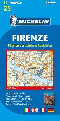 bokomslag Florens Michelin 25 stadskarta : 1:10000