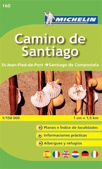 Camino de Santiago Michelin 160 delkarta Spanien : 1:150000