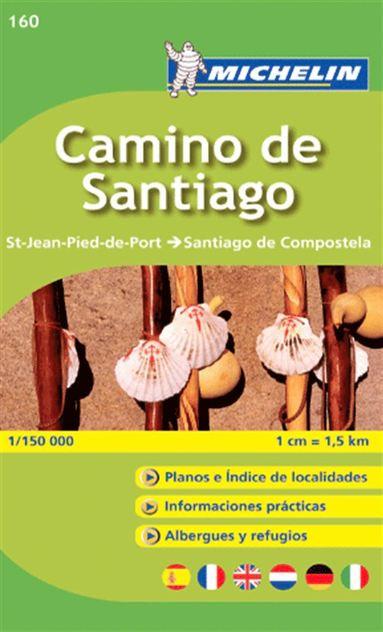 bokomslag Camino de Santiago Michelin 160 delkarta Spanien : 1:150000