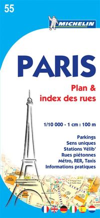 Paris Michelin 55 stadskarta : 1.10000