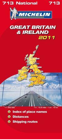 bokomslag Storbritannien Irland 2011 Michelin 713 karta : 1:1milj