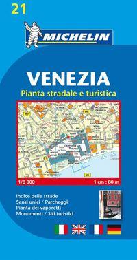 bokomslag Venedig Michelin 21 stadskarta : 1:6000