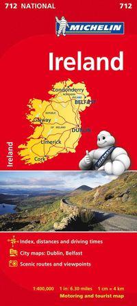 bokomslag Irland Michelin 712 karta : 1:400000