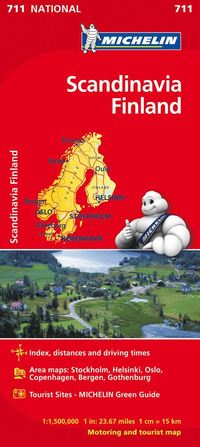 Skandinavien Finland Michelin 711 karta : 1:1,5milj