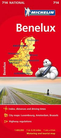 bokomslag Benelux Michelin 714 karta : 1:400000