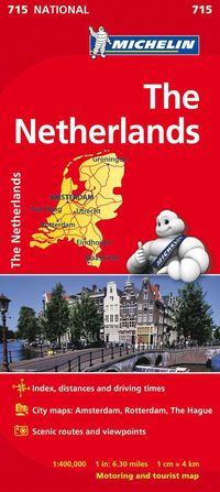 bokomslag Nederländerna Michelin 715 karta : 1:400000