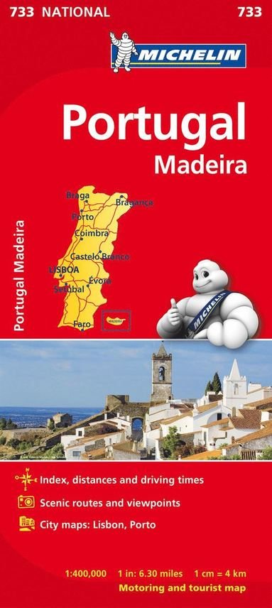 bokomslag Portugal Madeira Michelin 733 karta : 1:400000