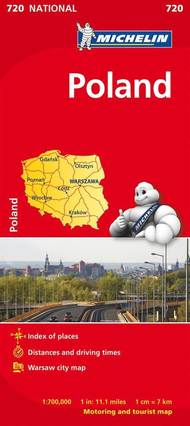 bokomslag Polen Michelin 720 karta : 1:700000