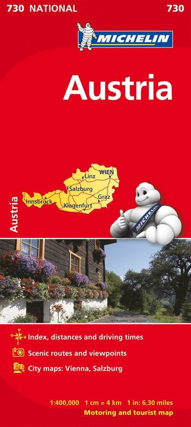 bokomslag Austria - Michelin National Map 730