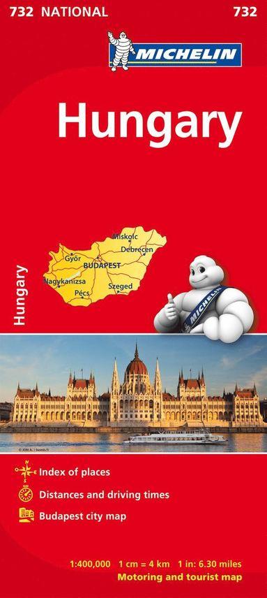 bokomslag Ungern Michelin 732 karta : 1:400000