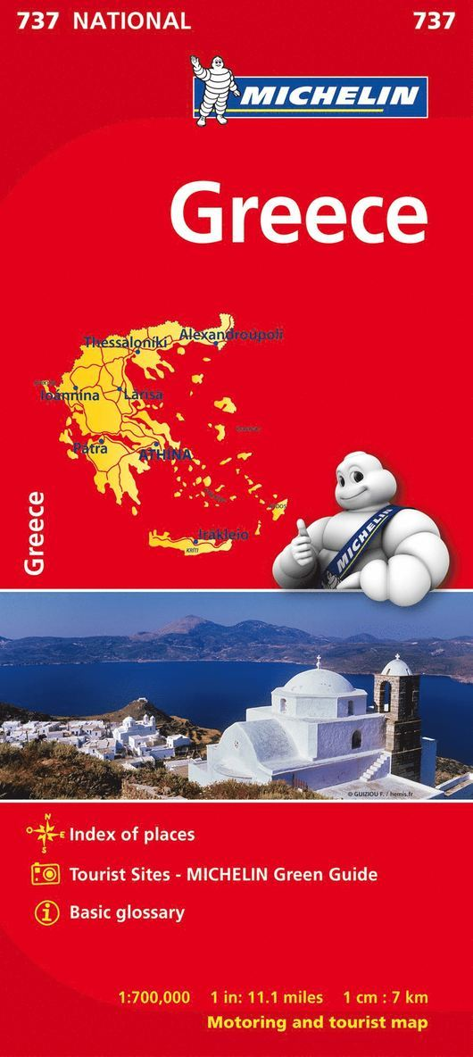 Grekland Michelin 737 karta : 1:700000 1