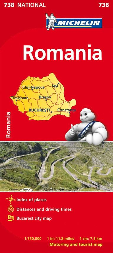 bokomslag Romania - Michelin National Map 738