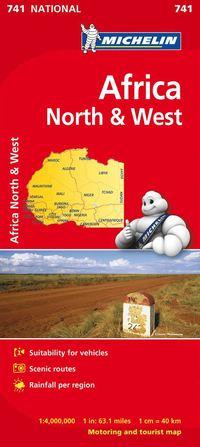 Nordvästra Afrika Michelin 741 karta : 1:4milj
