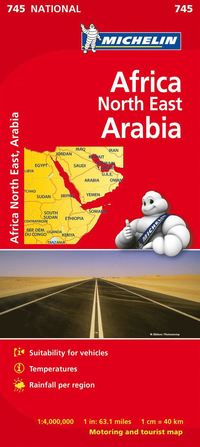 bokomslag Nordöstra Afrika Michelin 745 karta : 1:4milj