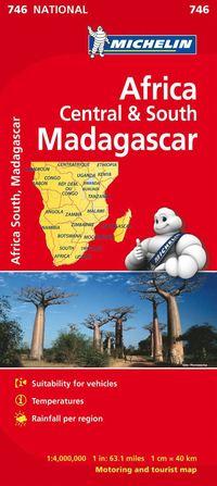 bokomslag Centrala och Södra Afrika Michelin 746 karta : 1:4milj