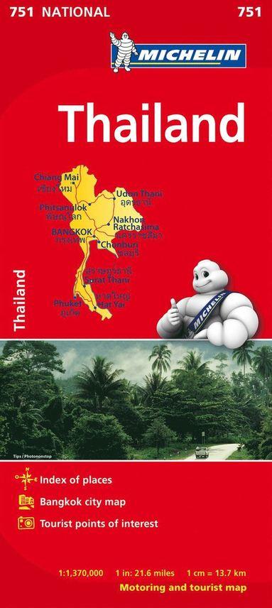 bokomslag Thailand Michelin 751 karta : 1:1,37milj