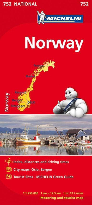 bokomslag Norge Michelin 752 karta : 1:1,25milj