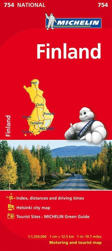 bokomslag Finland Michelin 754 karta : 1:1,25milj