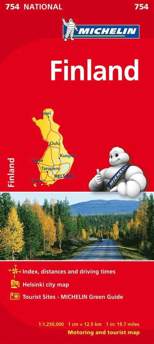 Finland Michelin 754 karta : 1:1,25milj 1