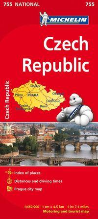 bokomslag Tjeckien Michelin 755 karta : 1:450000