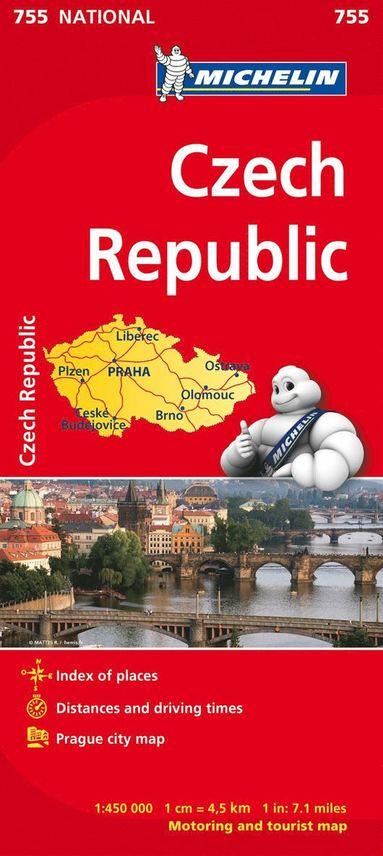 bokomslag Czechia - Michelin National Map 755