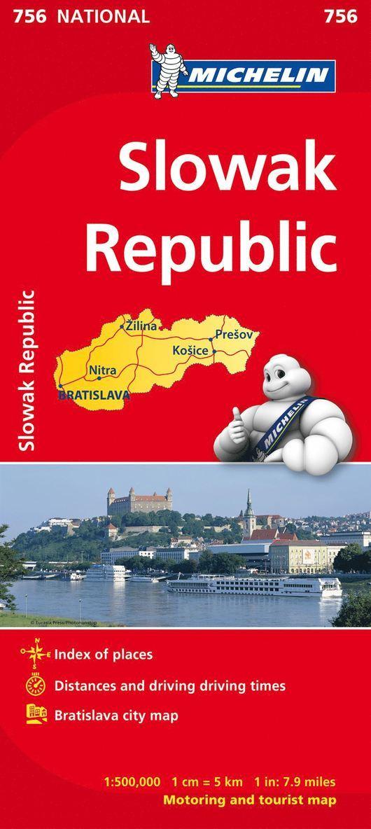 Slovakien Michelin 756 karta : 1:500000 1