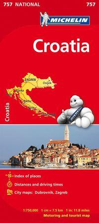 Kroatien Michelin 757 karta : 1:750000