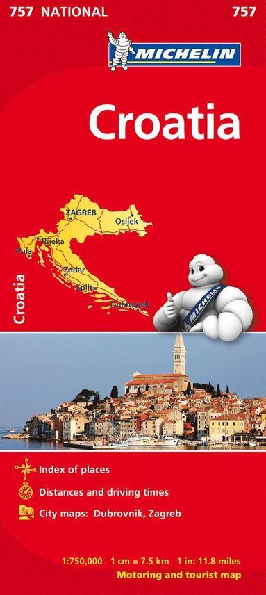 bokomslag Kroatien Michelin 757 karta : 1:750000