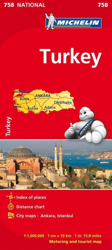 bokomslag Turkiet Michelin 758 karta : 1:1milj