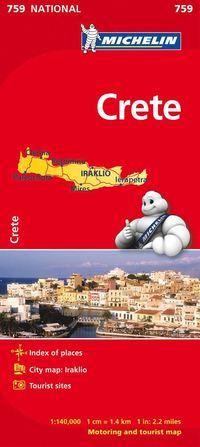 bokomslag Kreta Michelin 759 karta : 1:140000