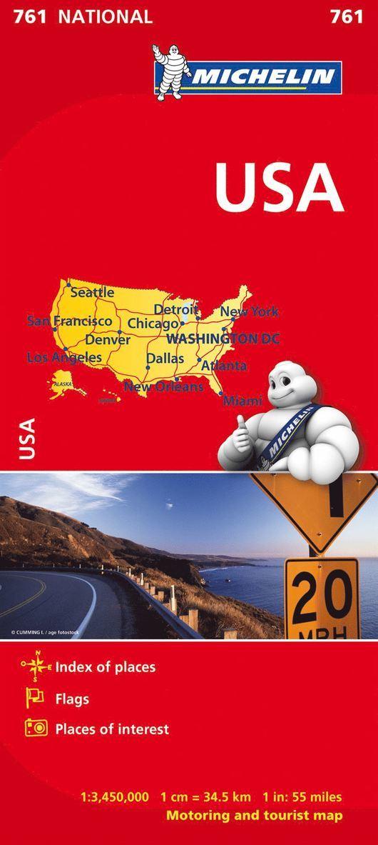 USA Michelin 761 karta : 1:3,45milj 1
